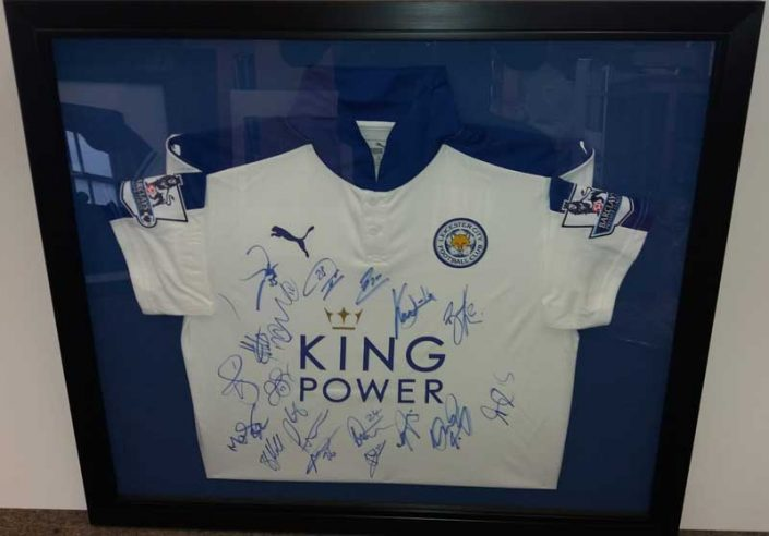 Framed Signed Football Shirt
