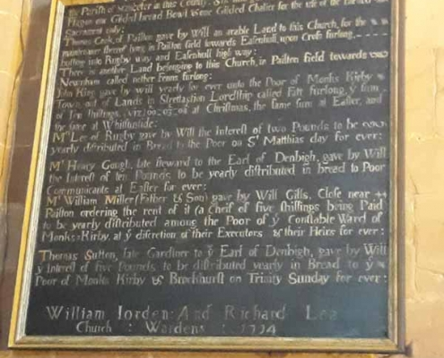 Joseph Bosworth Plaque Restored