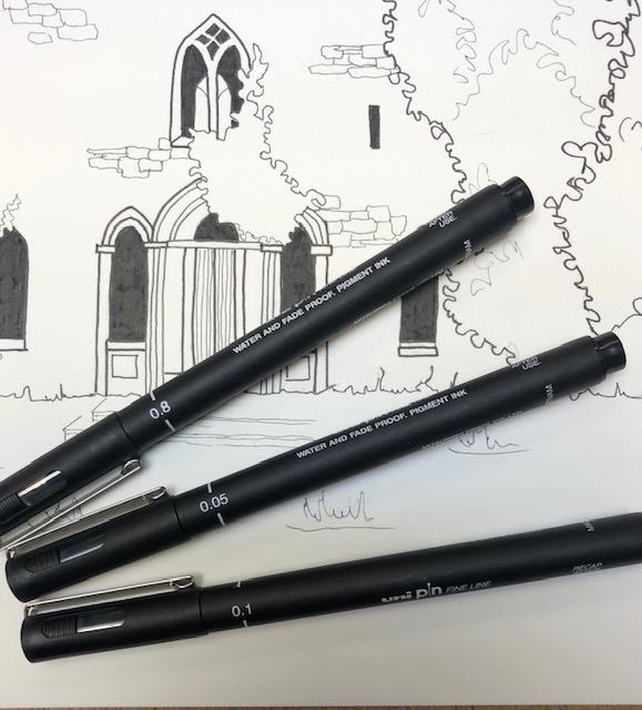 Uni PIN fine line pens
