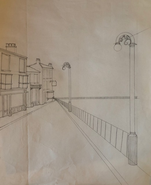 a street in perspective