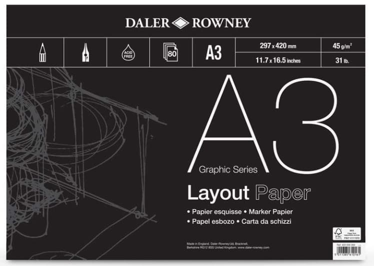 A3 layout paper - Daler Rowney