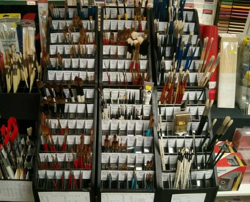 Selection of artists brushes