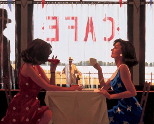 cafe days - artist Jack Vettriano