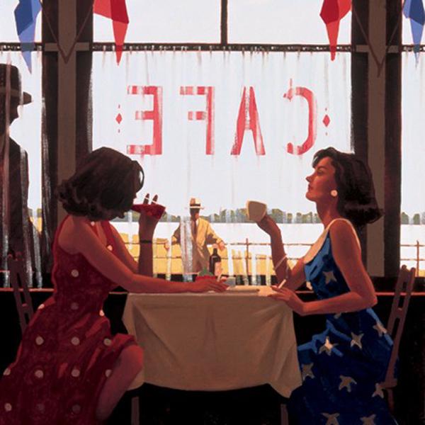 cafe days - artist Jack Vettriano