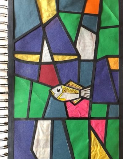 Coventry Cathedral stained glass - mixed media