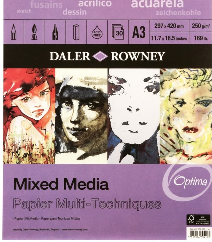daler rowney mixed media paper
