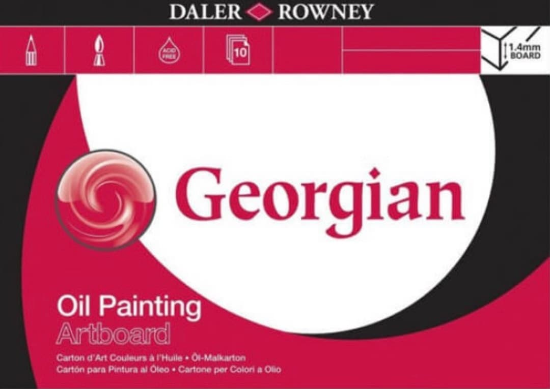 Pad of Daler Rowney oil painting artboard
