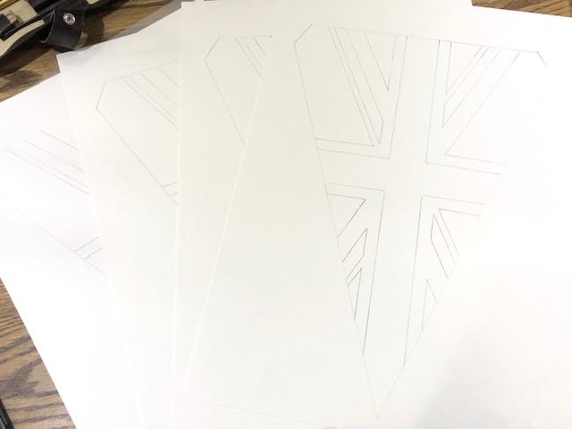 drawn Union Jacks