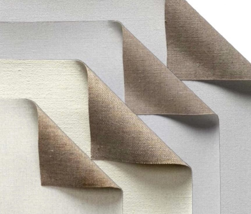 fine and extra-fine textured primed linen canvases