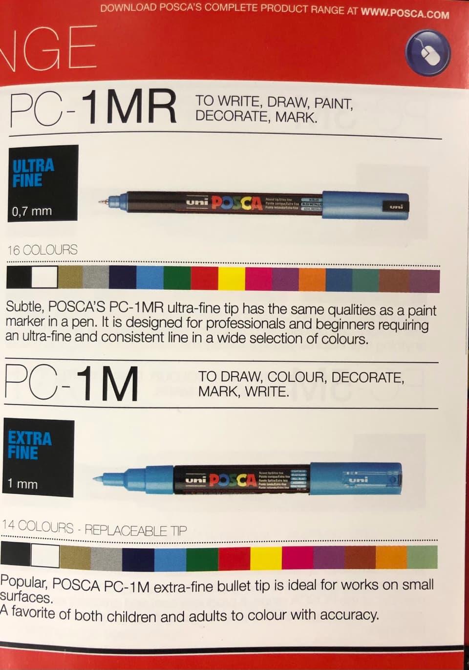 fine nibbed posca pens