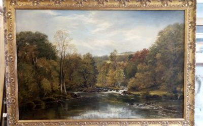 Oil painting needing restoration and a new frame