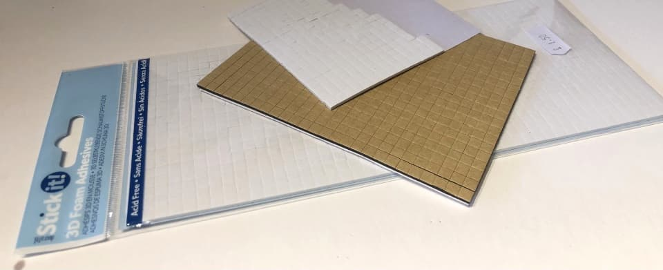 foam pads to separate decoupage layers