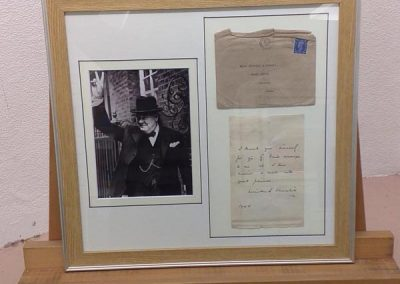 framed letter from churchill