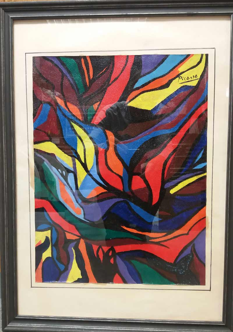 framed picasso painting
