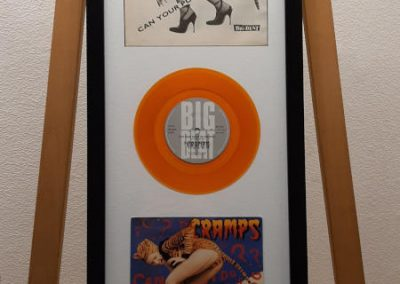 framed record sleeve