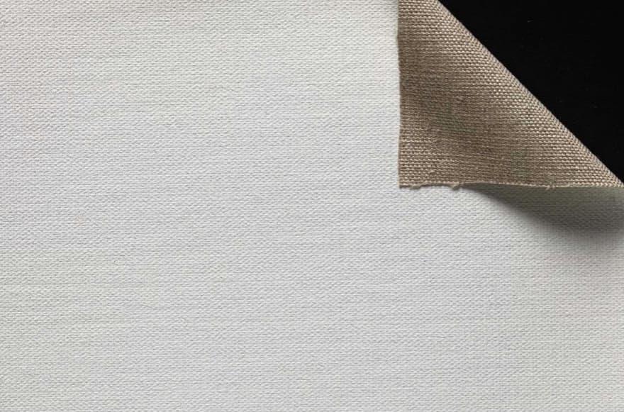 heavy primed linen canvas