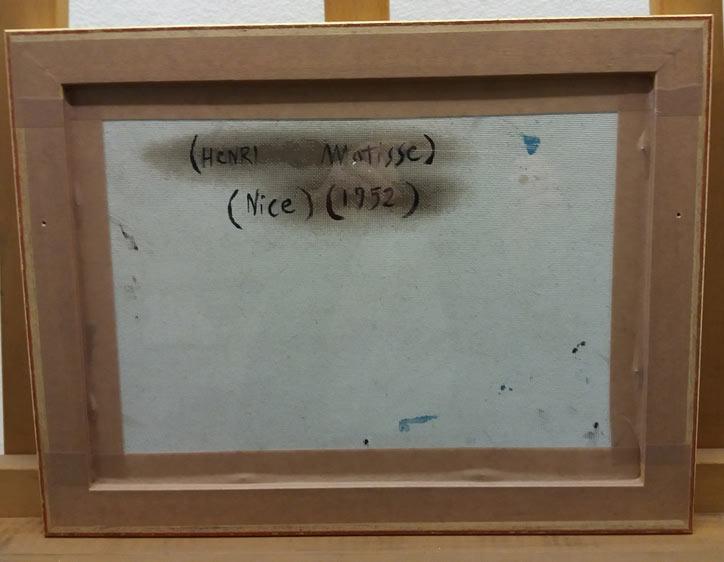 henri matisse 1952 picture framed reverse