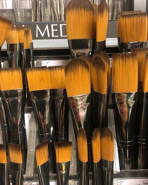 huge range of brushes