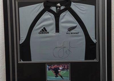 Jonah Lomu signed shirt framed