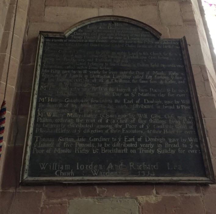 joseph bosworth plaque for restoration