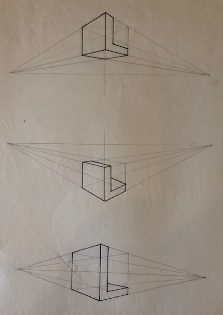 L shape in perspective