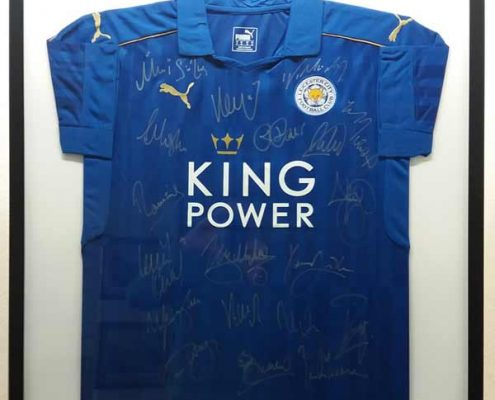 Framed leicester city shirt