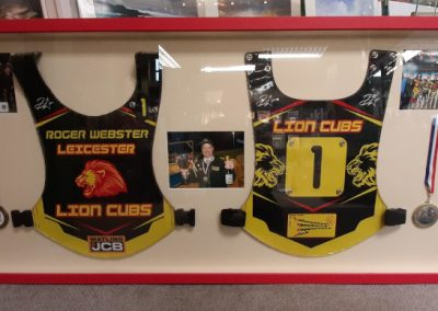 framed leicester lion cubs vests
