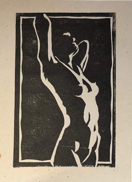 line print - naked woman