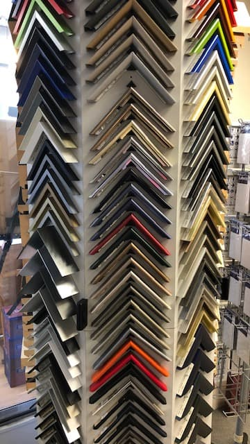 Metallic picture frame mouldings