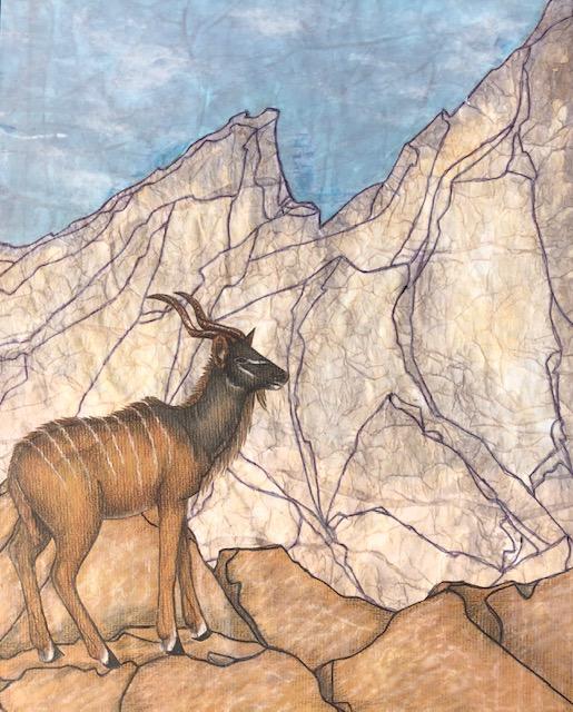 mixed media antelope