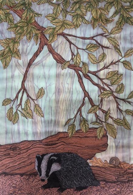 Museum pencil drawn badger