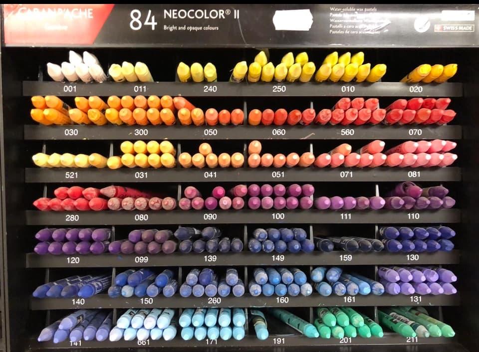 neocolor II water-soluble pastels