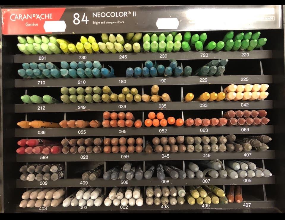 neocolor II water-soluble crayons