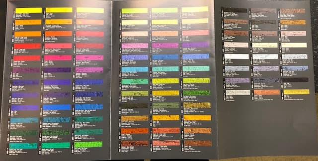 Caran D'ache neopastels colour chart