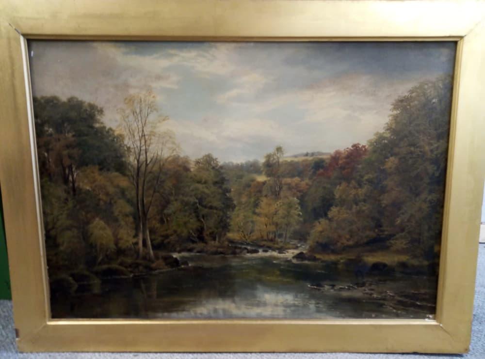 oil painting needing restoration and reframing
