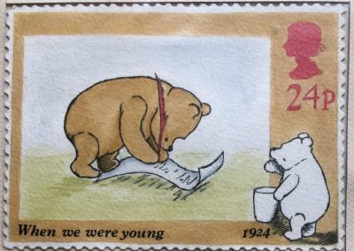 Pooh Stamp finished painting