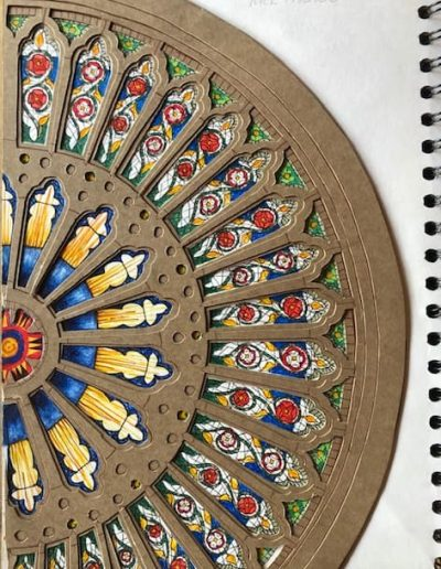 Rose window York Minster - mixed media