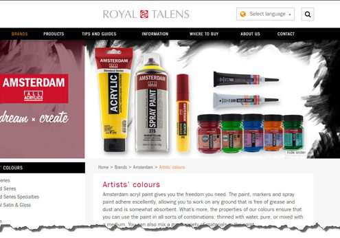 Royal Talens Amsterdam Acrylic Paints