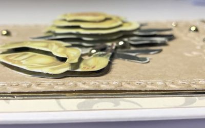 Using decoupage to make a greeting card
