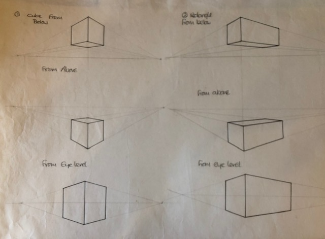 square and rectangle in perspective