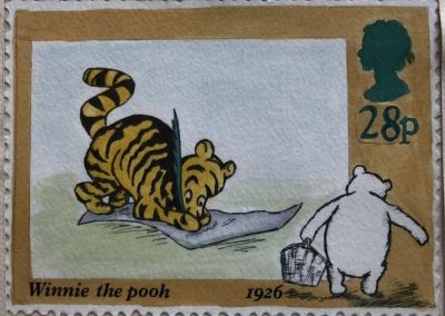Tigger stamp - finished painting