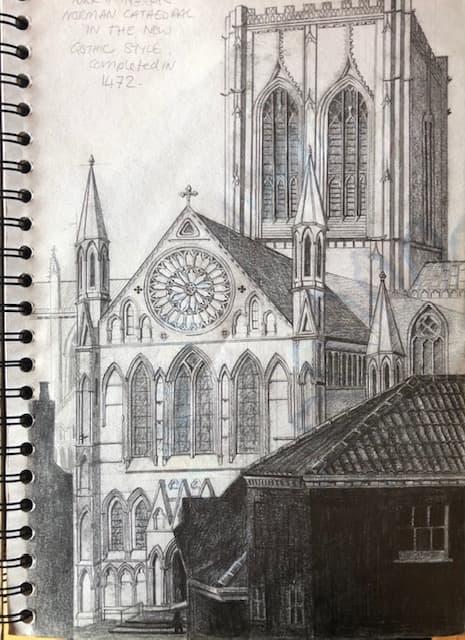 tonal drawing of york minster