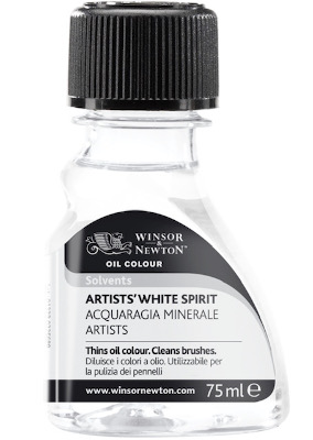 white spirit for brush cleaning