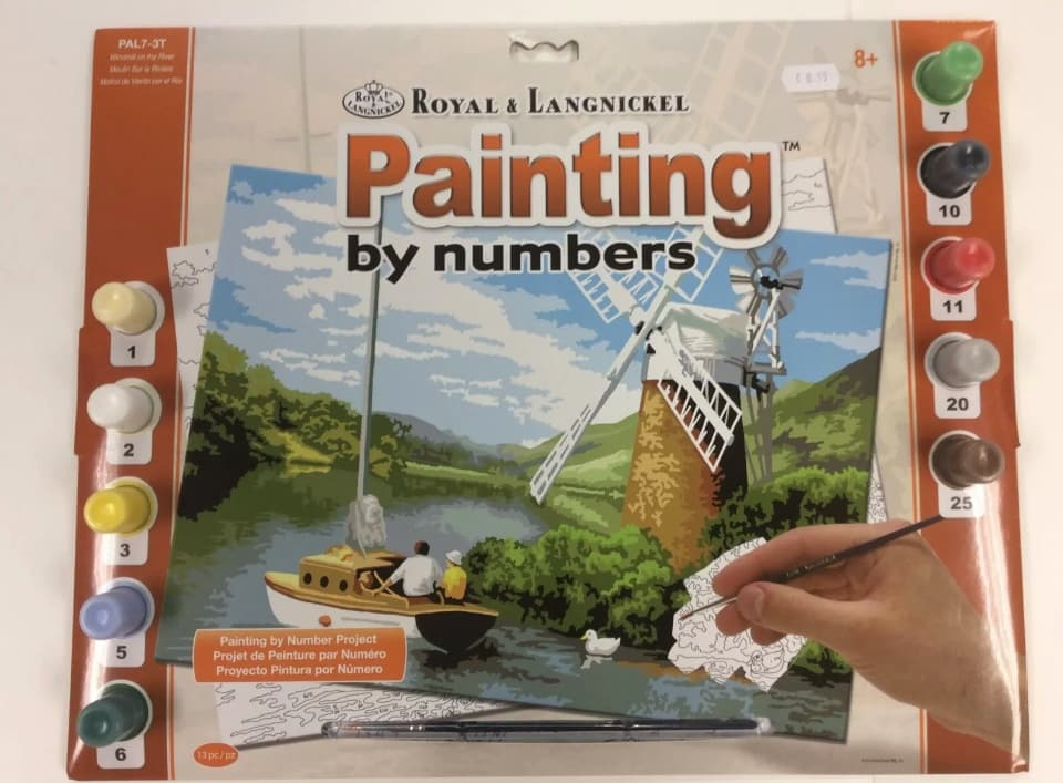 painting by numbers windmill on the river