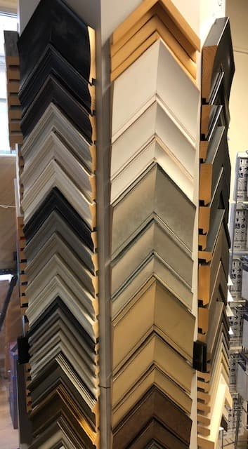 Wooden picture frame mouldings