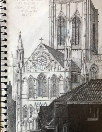 York Minster - pencil drawing