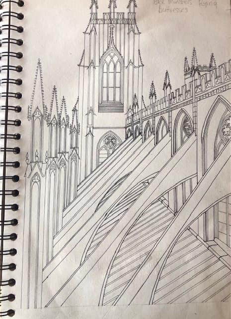 York Minster line drawing